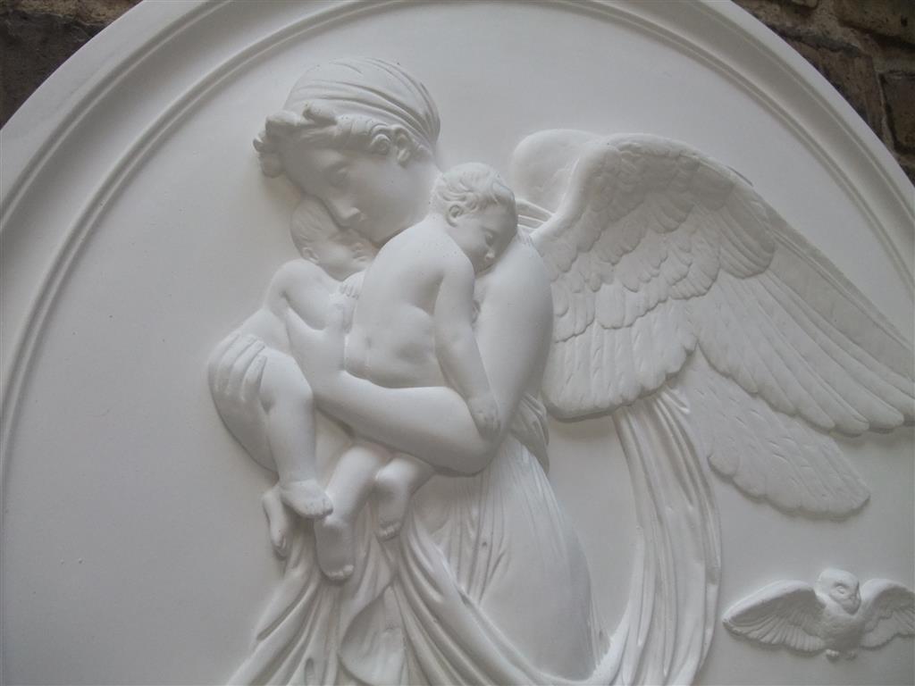 THORWALDSEN TAG UND NACHT RELIEFS 13,5 CM MUSEUMSKOPIE AUCH WETTERFEST NEU SCHÖN